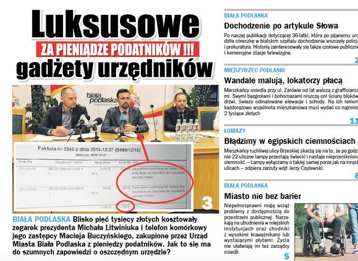 Nowy ekskluzywny zegarek prezydenta Litwiniuka. Kupił go za publiczne pieniądze