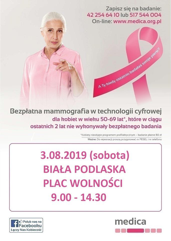 Zapisz się na bezpłatną mammografię