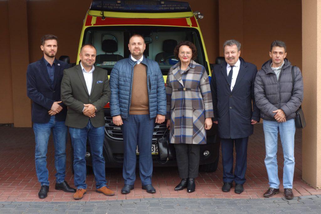 Spotkanie bialskiej Stacji Pogotowia z  przedstawicielami Stacji Szybkiej Pomocy Medycznej w Brześciu