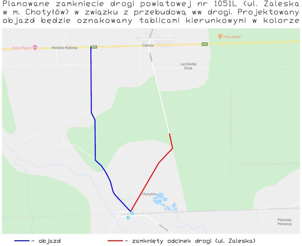 Planowane zamknięcie drogi powiatowej