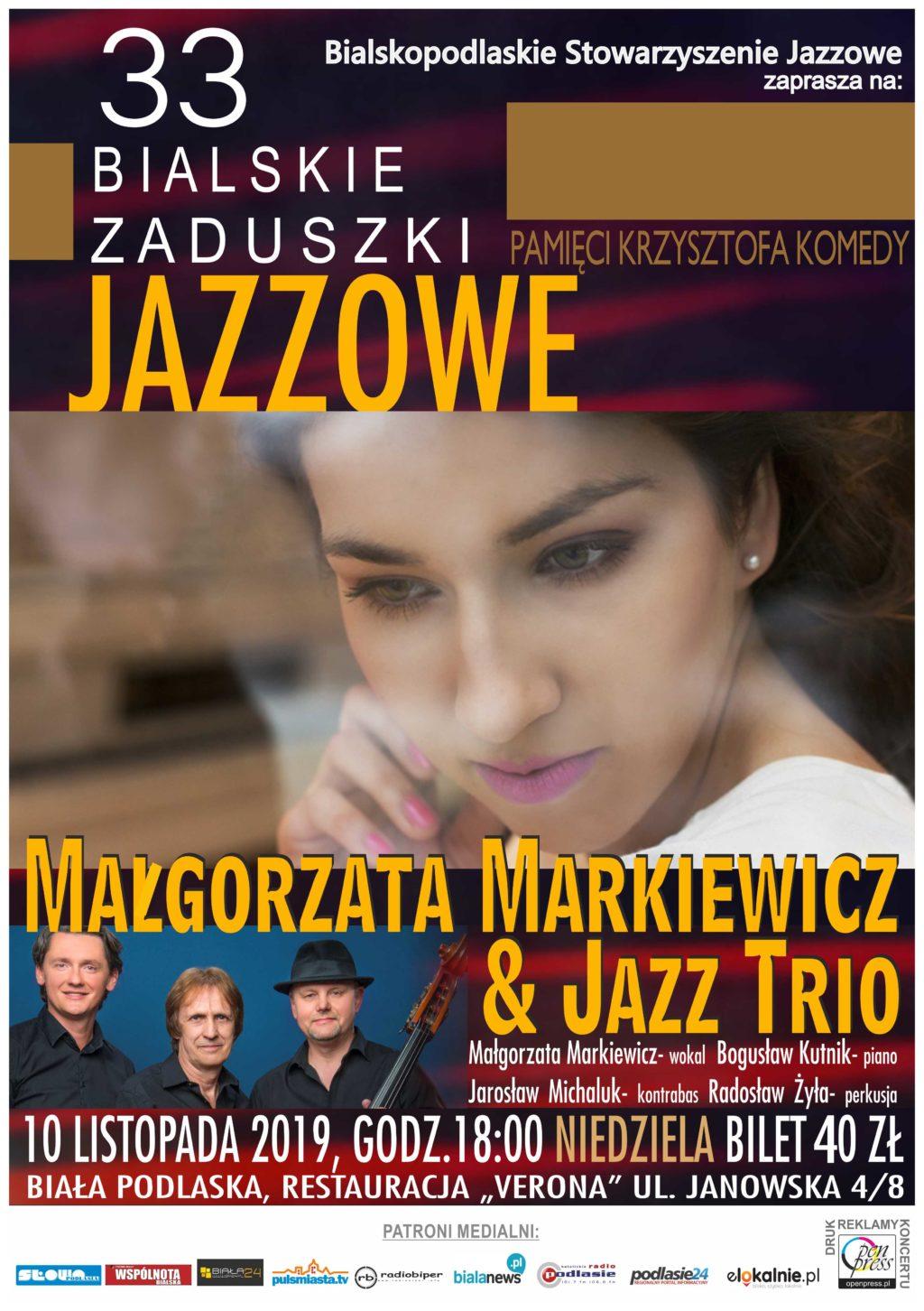 PATRONAT BIAŁANEWS: Podwójne zaproszenia na Bialskie Zaduszki Jazzowe czekają na Ciebie