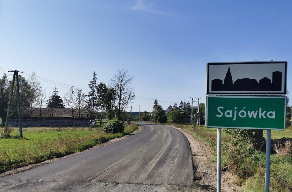 Zakończył się remont drogi w Sajówce