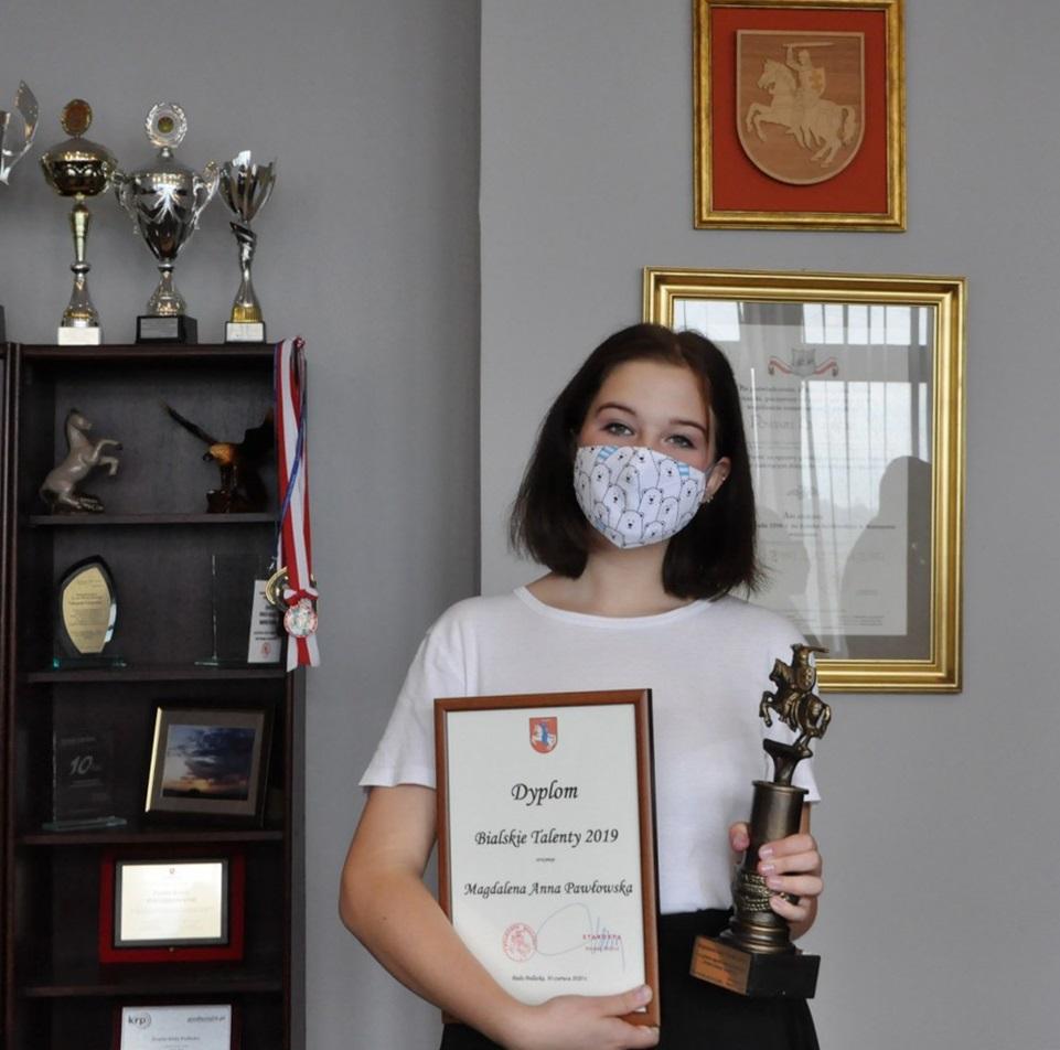 """Podopieczna """"Migawki"""" laureatką nagrody """"Bialskie Talenty 2019"""""""