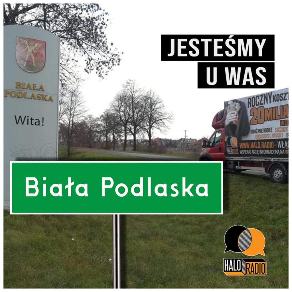 W Białej Podlaskiej pojawiła się ciężarówka oklejona antykościelnymi hasłami