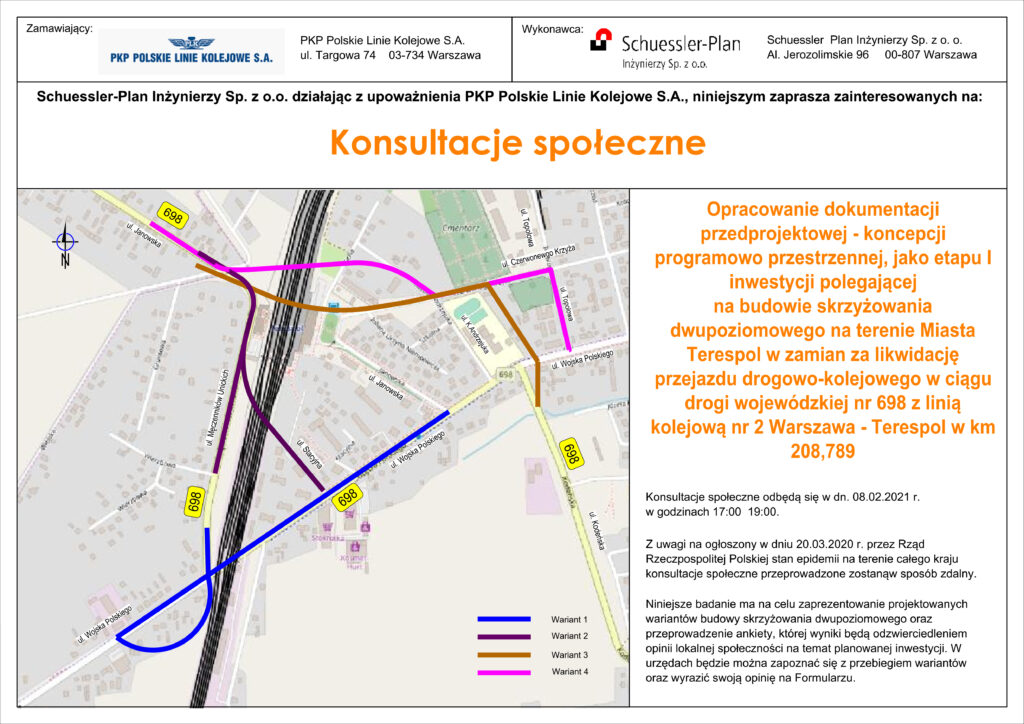 Skrzyżowanie dwupoziomowe w Terespolu- konsultacje społeczne