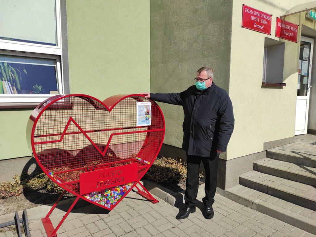 Serce na nakrętki stanęło w Terespolu. Ruszyła zbiórka dla Antosia