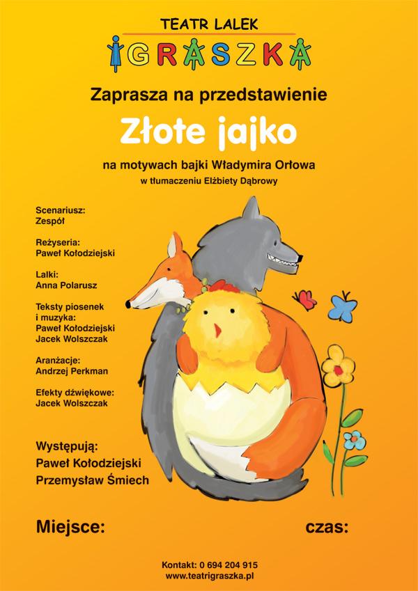 """Spektakl dla dzieci ,,Złote jajko"""" w Wisznicach"""