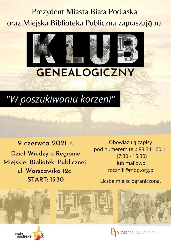 Chcesz odnaleźć informacje o swoich przodkach? Przyjdź na spotkanie Klubu Genealogicznego